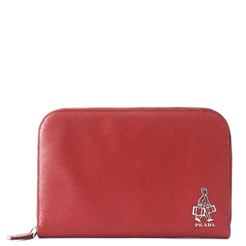 Prada Red Travel Wallet