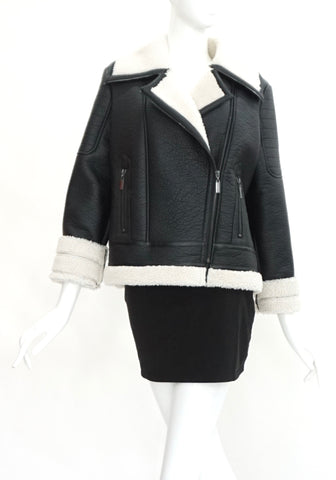 Glamorous Sheep Fur Lining Leather Jacket