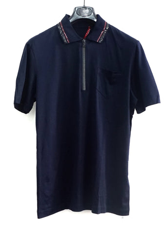 Prada Navy Polo Shirt