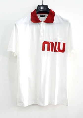 Miu Miu White Polo Shirt
