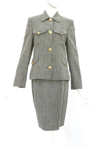 Versus by Gianni Versace Vintage Grey Suit Set 40
