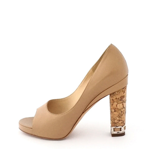 Chanel Beige Peeptoe Shoes 37