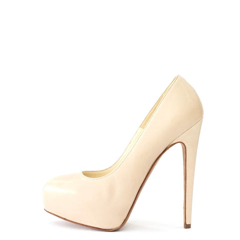 Brian Atwood Nude Pump Shoes 36