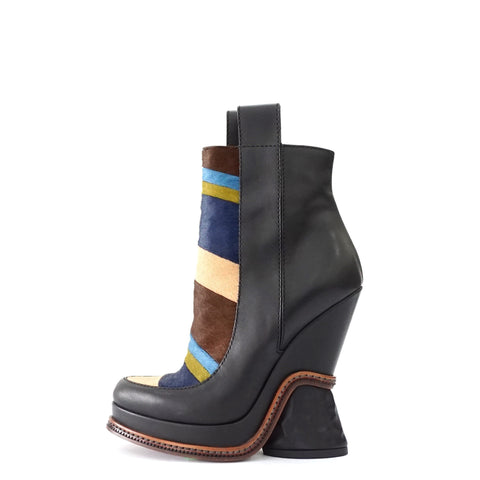 Fendi Multicolor Pony Hair Boots 36