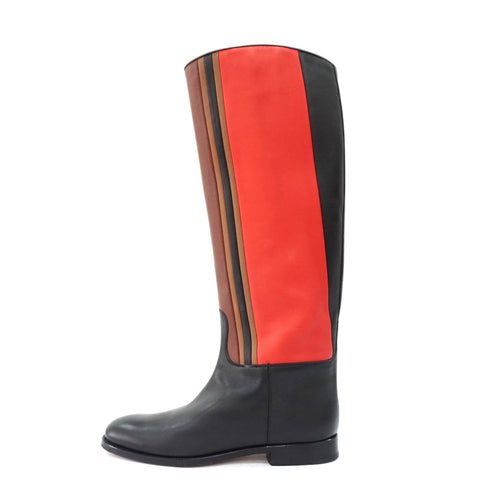 Hermes Three Coloured High Boots 37