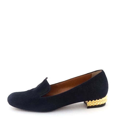 Fendi Navy Suede Loafers 37