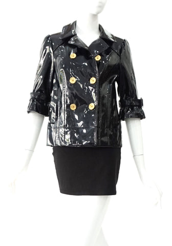 Juicy Couture Black Pantent Jacket S