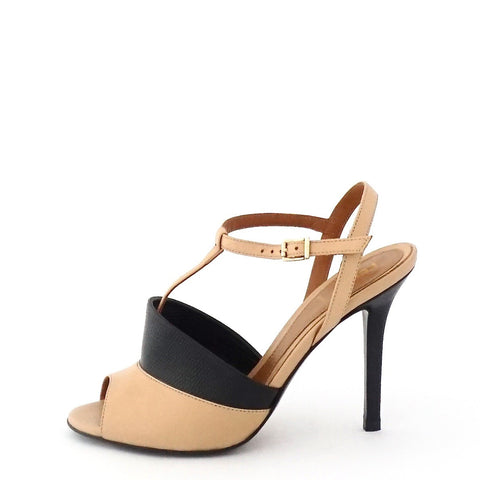 Fendi Beige-Black Sandals 36.5