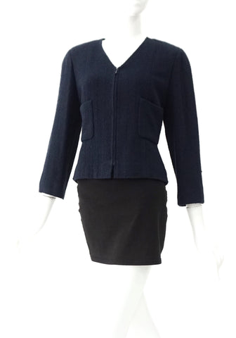 Chanel Navy Blue Cardigan 40
