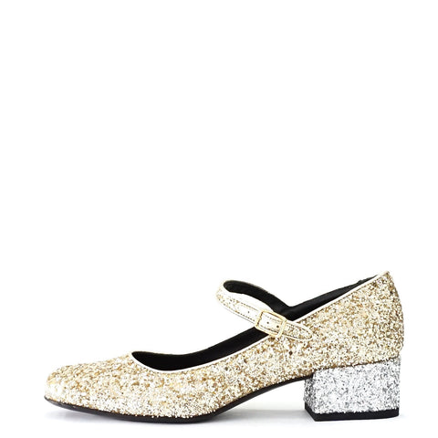 Saint Laurent Glitter Mary Jane 36