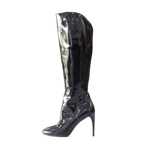 Gucci Black Leather Knee High Boots 36