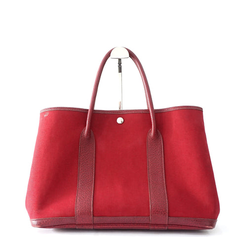 Hermes Garden Party Rouge H Tote Bag