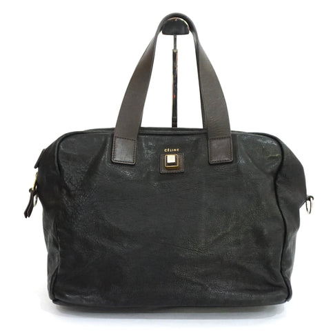 Celine Black Square Satchel Bag