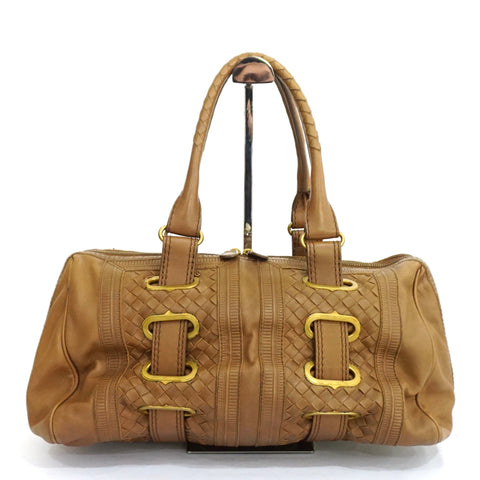 Bottega Veneta Brown Intrecciato Nappa Long Shoulder Bag