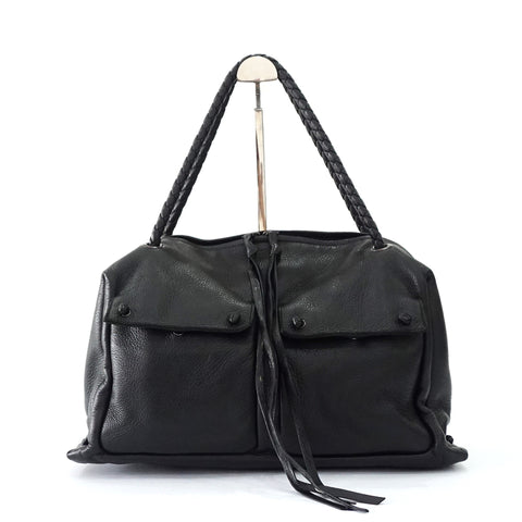 Bottega Veneta Black Bowling Bag