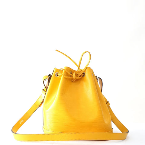 Louis Vuitton Petite Noe Yellow Epi