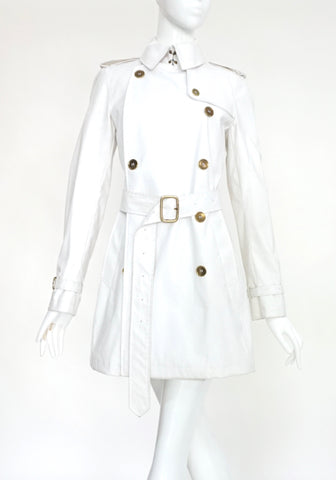 Burberry White Trenchcoat