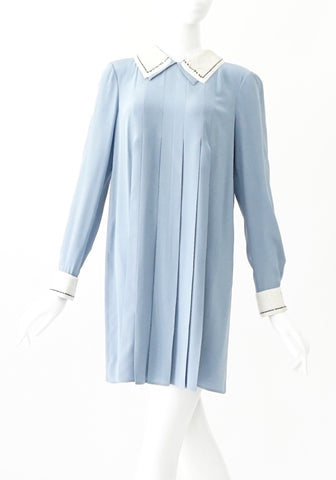 Prada Baby Blue With Sequined Collar 38