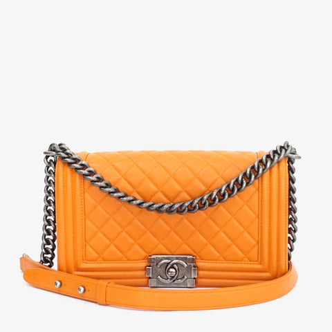 Chanel Boy Orange