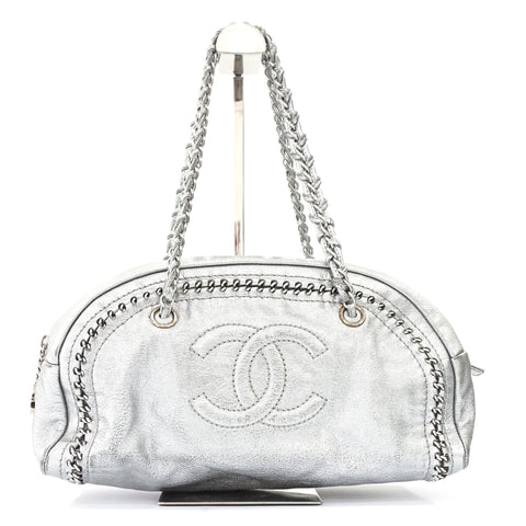 Chanel Silver Lux Ligne Shoulder Bag