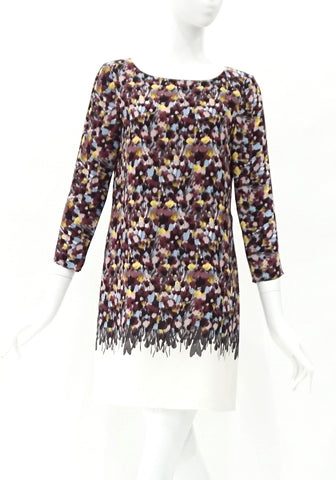 Tibi Brown Yellow Flower Dress 2