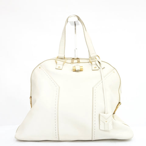 YSL Large White Muse Bag