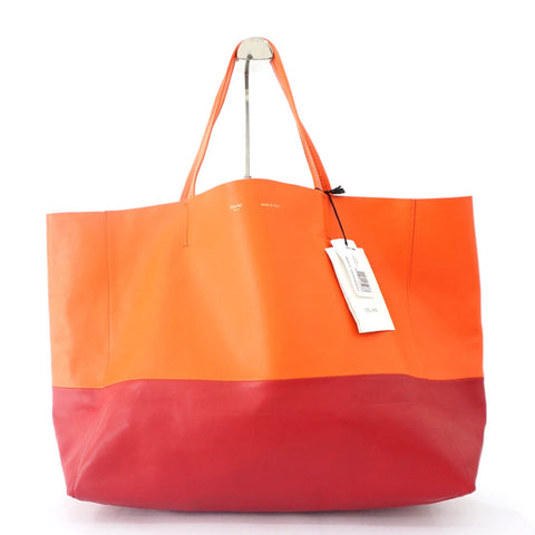 Celine Brand New Orange Cabas Tote Bag