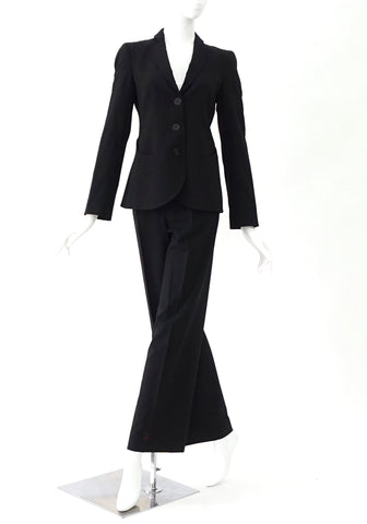 Emporio Armani Black Pants Suit 38