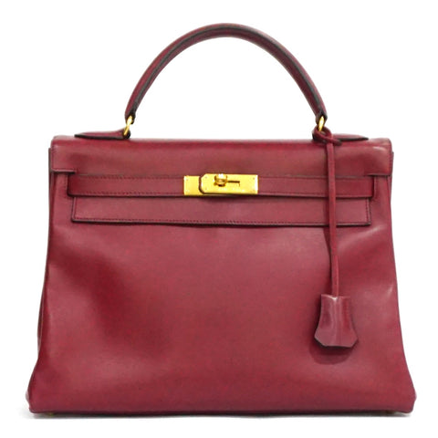 Hermes Kelly Retourne 32 Rouge H Box Calf GHW