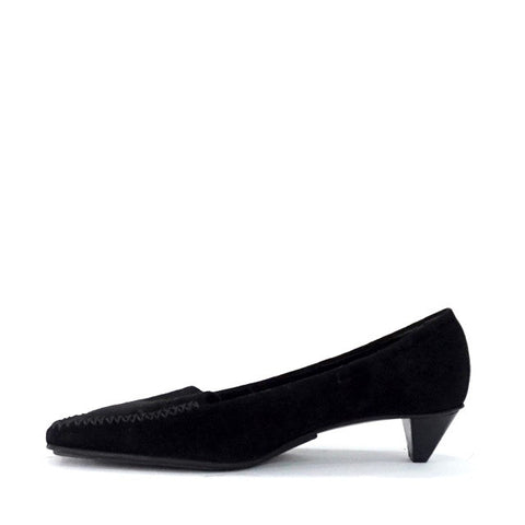 Prada Black Suede Kitten Shoes 38.5