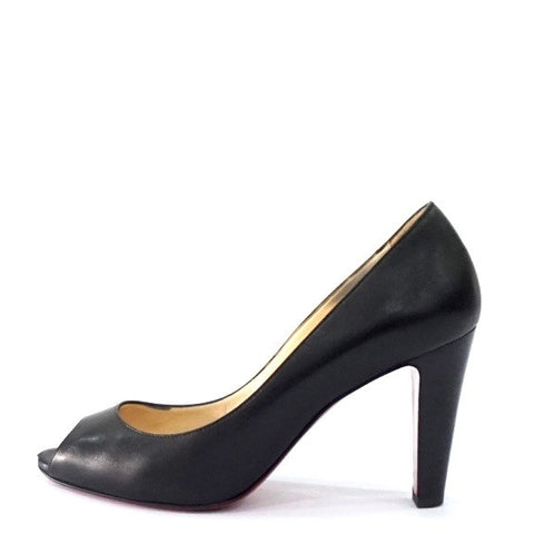 Christian Louboutin Black Peeptoe Pumps 36