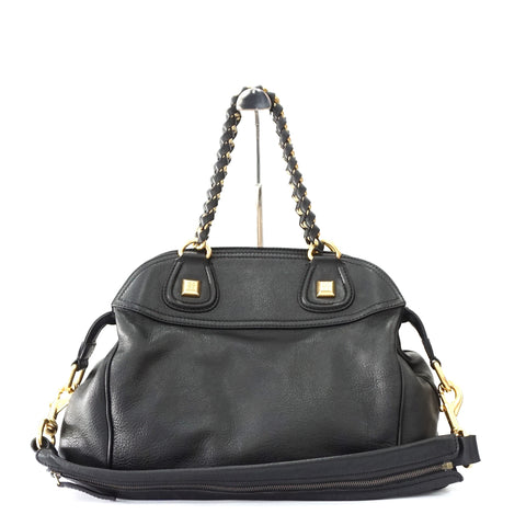 Givenchy Black Leather Bag with Gold Chain