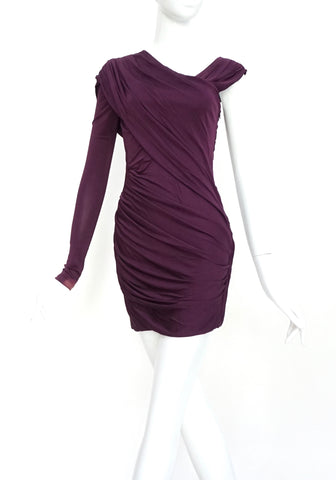 Alexander Wang Purple One Shoulder Dress 2
