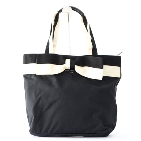 Kate Spade Black Nylon Ribbon Tote Bag
