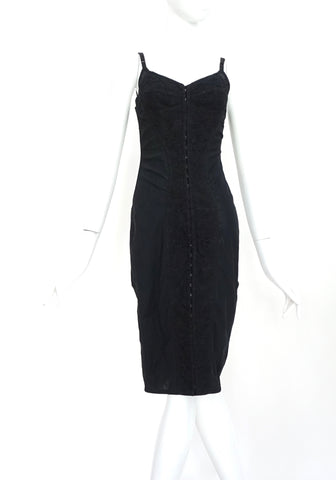 Dolce & Gabbana Vintage Black Dress with Lace Detail 38