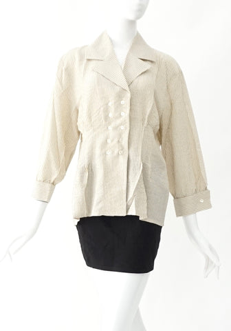 Celine Beige Striped Vintage Top 42