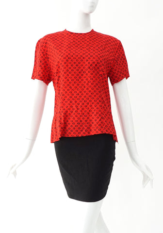Celine Vintage Red Tops