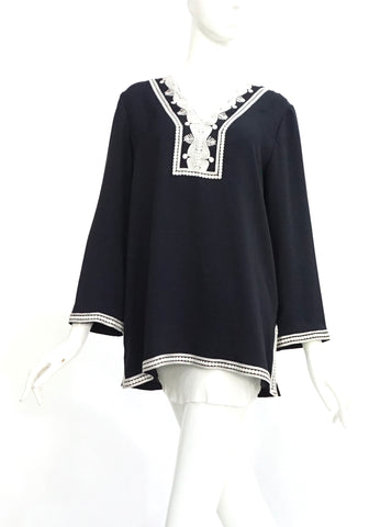 Tory Burch Black Embroidered Tunic 6