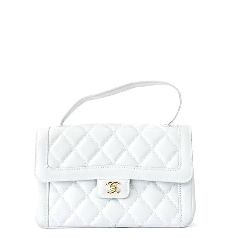 Chanel Light Blue Lambskin Kelly Bag