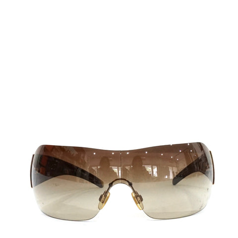 Burberry Brown and Gold Sunglasses