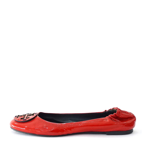 Tory Burch Red Patent Flats 10 M