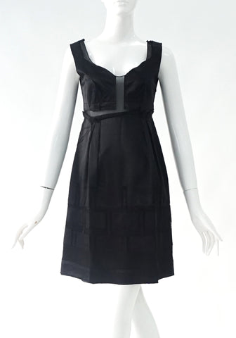 Philosophy by Alberta Feretti Black Silk Cocktail ress 4 US