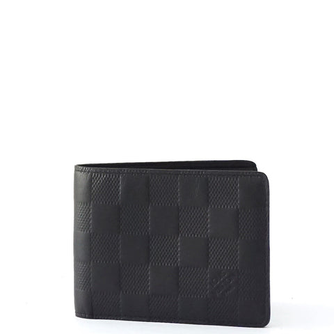Louis Vuitton Black Slender Bifold Wallet