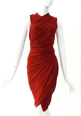 Alexander Wang Terracota Drape Cocktail Dress 2