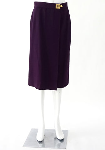 Celine Purple Vintage Wrap Skirt