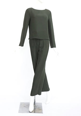 Emporio Armani Green Top & Pants Set 40