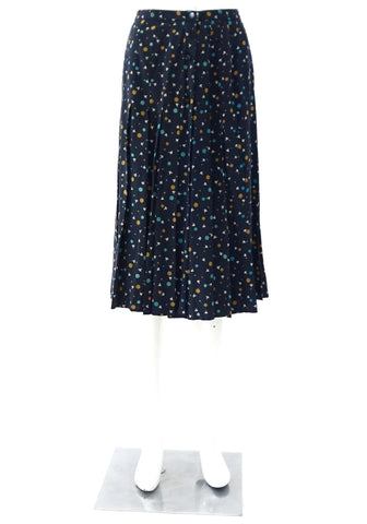 Celine Navy Multicolor Vintage Skirt 38