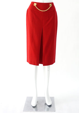 Celine Red Vintage Skirt 40