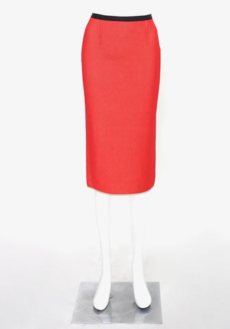 Roland Mouret Red Pencil Skirt US 2