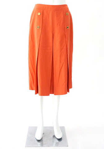 Celine Orange Vintage Skirt 42